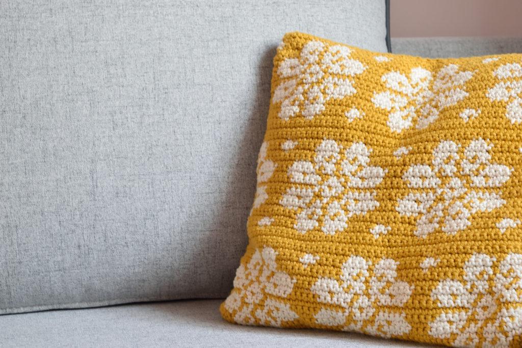 Dahlia Pillow Free Crochet Pattern By Mycrochetory